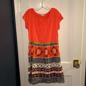 Boden Francine Cap Sleeve Day Dress Sz 8